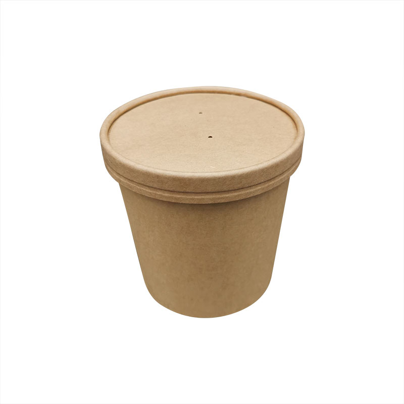 Vaso de sopa de papel degradable 20OZ con tapa